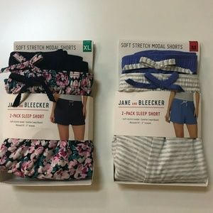 Jane And Bleecker Women's 2 Pack Sleep Short